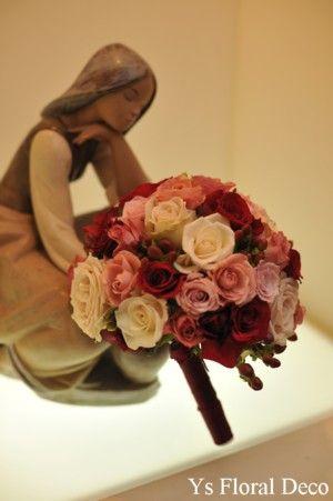 ミックスカラーのラウンドブーケ @新横浜国際ホテル ys floral deco