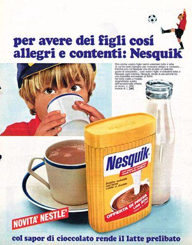 Nesquik Nestlè #spot #reclame #pubblicità #italia #italiani #cibo #intavola