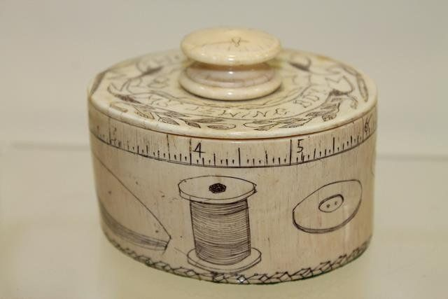 1811 Scrimshaw Child's Ivory Sewing Box : Lot 167