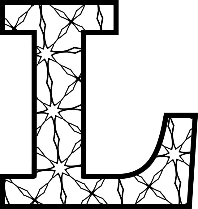 Best Printable Letters Images On   Colouring In