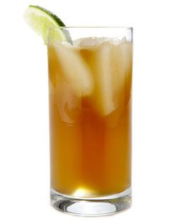 """Dark & Stormy""   These are really good.  Dark Rum, Ginger Beer, Lime Juice."