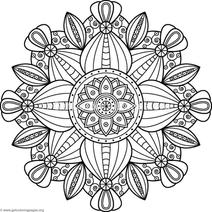 Free Instant Downloads Flower Mandalas Pattern Coloring Pages Pattern Coloring Pages Coloring Pages Abstract Coloring Pages