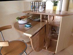 Выдвижная мебель - отличное решение для экономии места и безупречного дизайна маленькой кухни. Идеи функциональности и уюта для малогабаритной кухни, фото