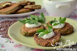 Рецепт – Чечевичные оладушки под вкуснейшим чесночным соусом