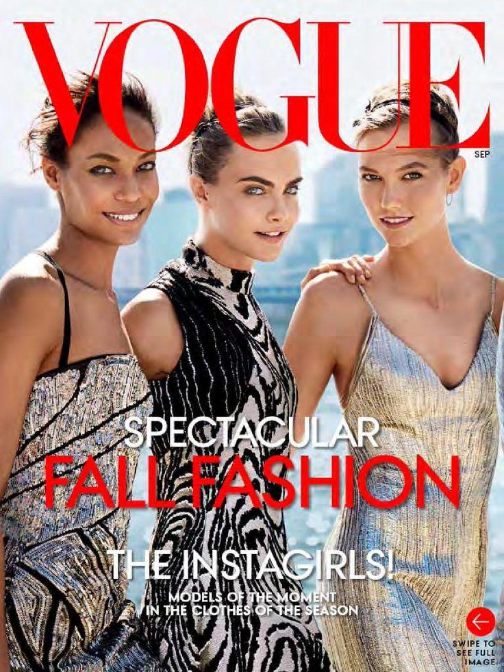 September 2014  Joan Smalls, Cara Delevinge & Karlie Kloss
