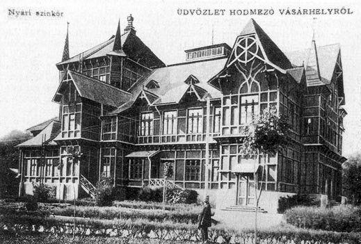 Hódmezővásárhely - Nyári Szinkör - A XIX. századi Magyarország egyik építészeti jellegzetessége a nyári színkör volt, amely a szabadban tartózkodás, kirándulás, kerthelysé