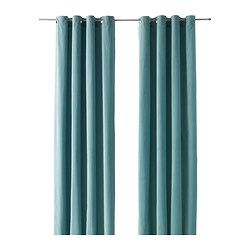 SANELA cortina, 1par, turquesa claro longitud: 300 cm Ancho: 140 cm peso: 2.60 kg
