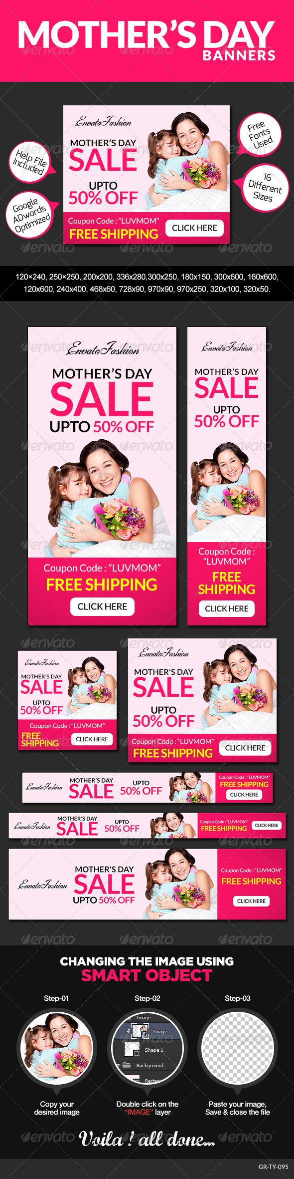 Mother's Day Banners Template PSD | Buy and Download: http://graphicriver.net/item/mothers-day-banners/8565653?WT.ac=category_thumb&WT.z_author=doto&ref=ksioks