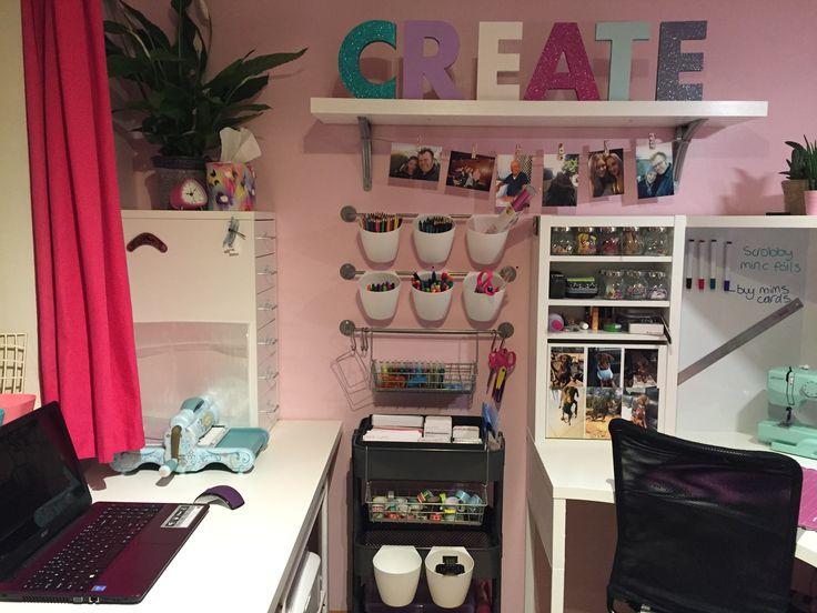 Craft Room Organisation Furniture From Ikea Raskog