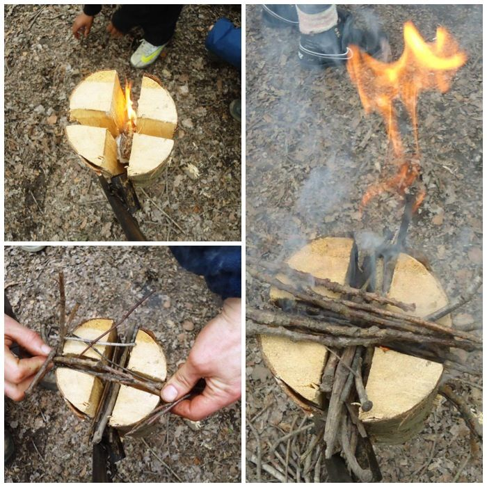 BushcraftUK: Community Forum - How To…. Build a Finnish/Swedish Candle – No chainsaw – Part 1