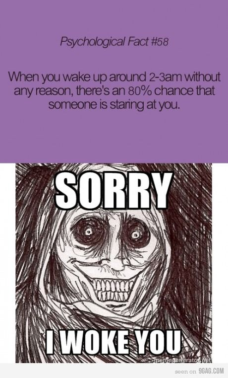 Creepy fact is creepy - this happens to me almost every night!