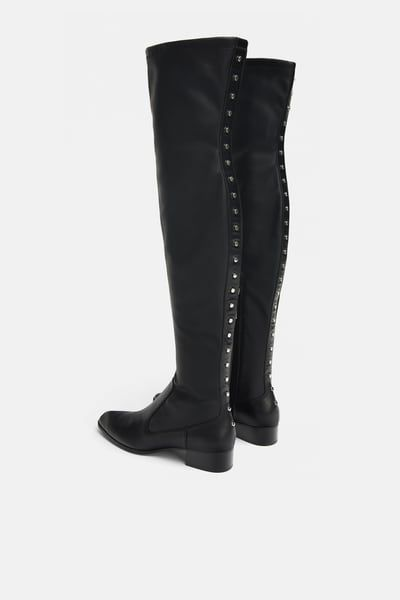 a5341b820df Image 5 of STUDDED FLAT STRETCH BOOTS from Zara