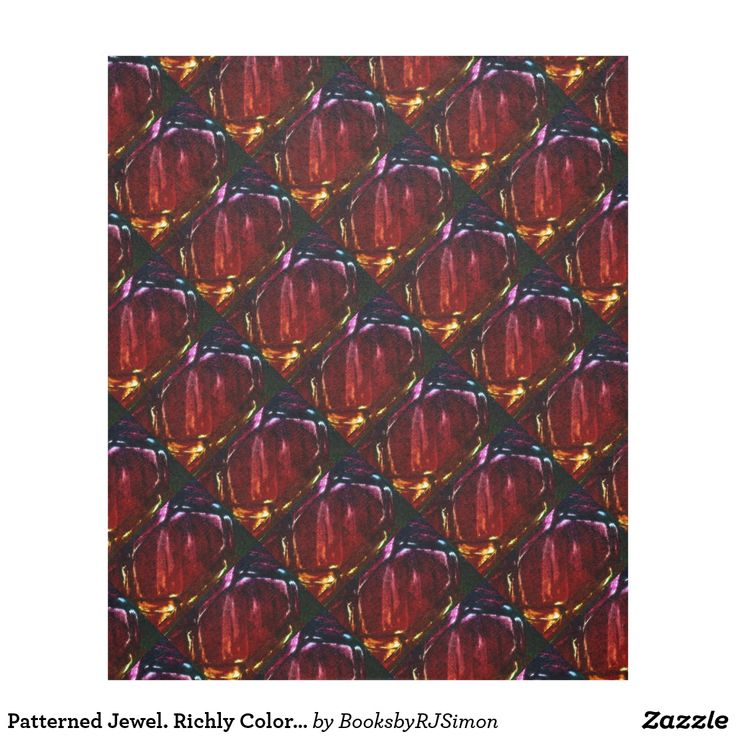 Patterned Jewel. Richly Colorful Bohemian Decadent Fleece Blanket