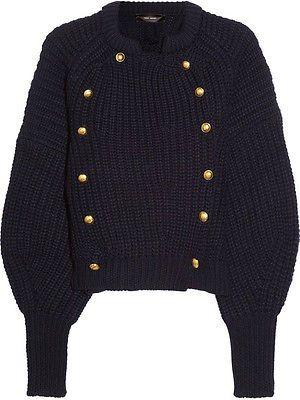 Isabel Marant Tadley chunky-knit wool cardigan in charcoal