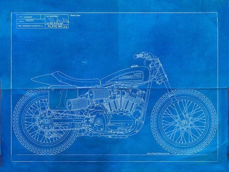 Flat Tracker design #graphic | caferacerpasion.com