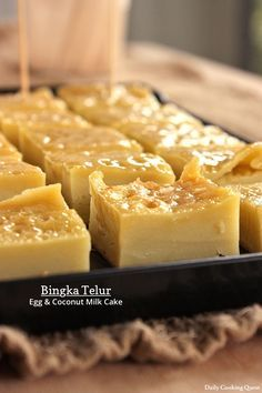 Bingka Telur – Egg and Coconut Milk Cake ~ from a great blog for simple Indonesian food, Daily Cooking Quest. ~ So good, and simple, and not bad for you. Basic recipe has only 6 ingredients, that you probably have around the house. Can be dressed up, too. ih