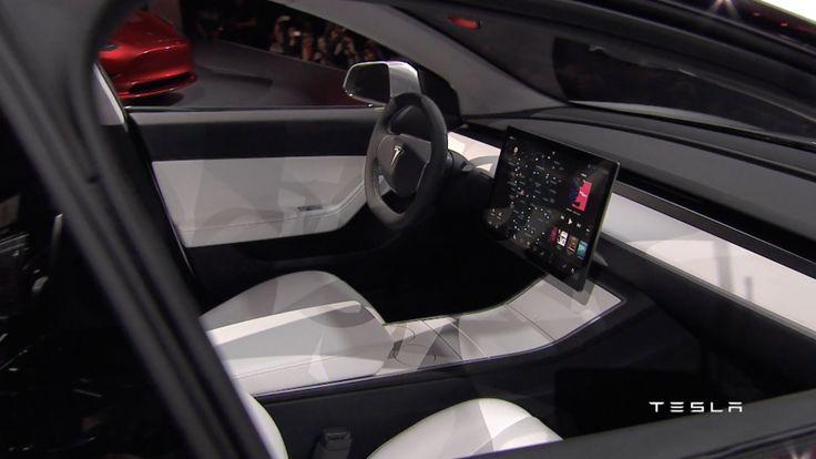 No grille? Minimalist interior? Electric car?