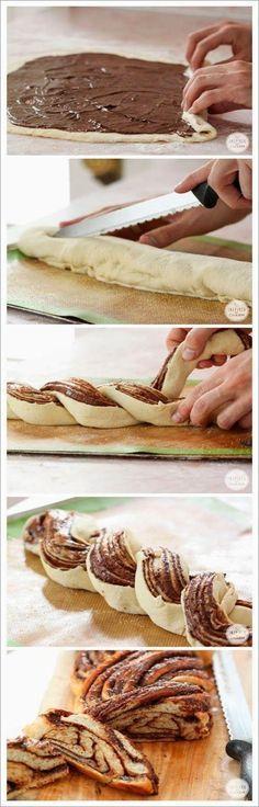 Roulé à la pâte à tartiner.