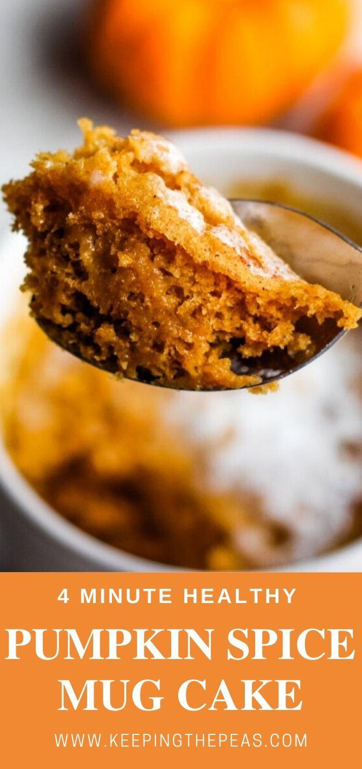 Healthy Microwave Mug Cake with Pumpkin Spice   Mug cake ...