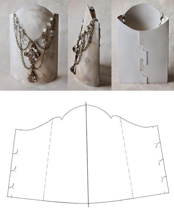 DIY necklace display: