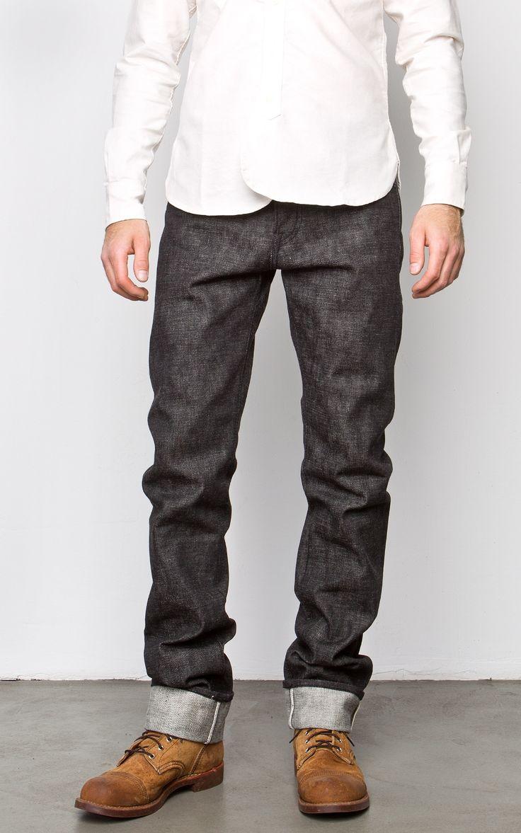 Rogue Territory 'Stanton' Raw [14.5oz] Japanese Black Selvedge White Tonal Jeans