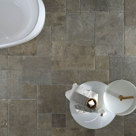 Our Loire Modular matt tile in moka.  Varied sizes.