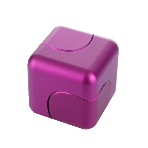 ECUBEE EDC Hand Spinner Purple Cube Fidget Spinner Finger Gadget