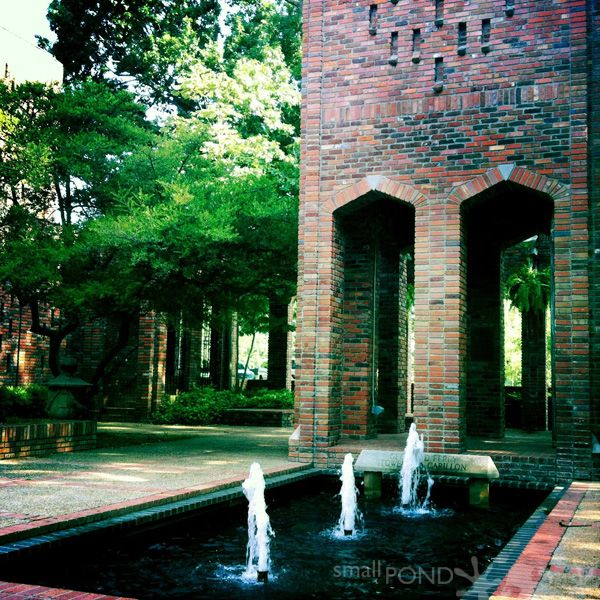 Chapel of Memories courtyard - Mississippi State University