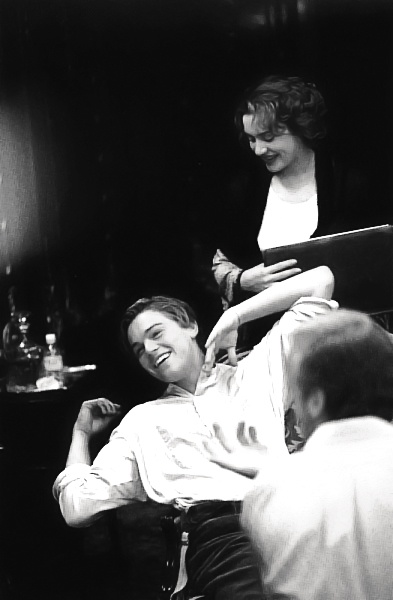 "Kate and Leo on the set of ""Titanic"""
