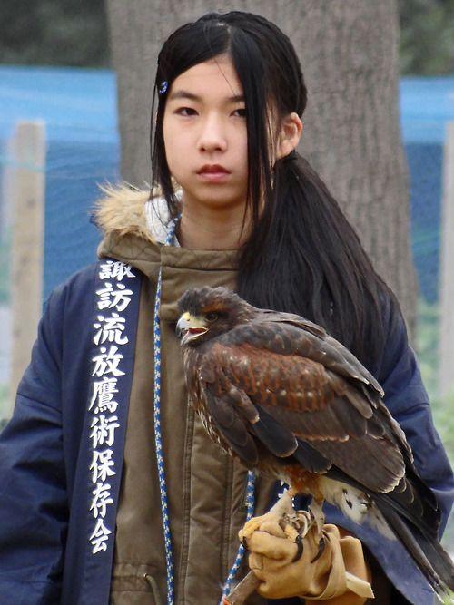 A Girl and Her Bird, Japan. (Via Rekishi no Tabi )