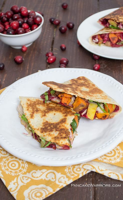 Thanksgiving quesadila! All your favorite flavors anytime! Gluten free dinner recipe idea
