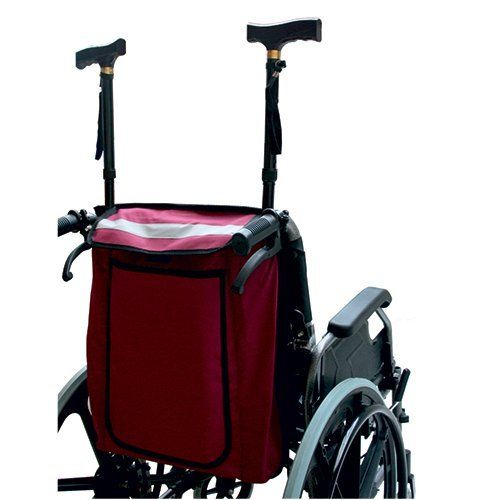 Mobility Scooter And Wheelchair Crutch Bag - Mobility scooter and wheelchair storage bag. (Maroon): Amazon.co.uk: Health & Personal Care