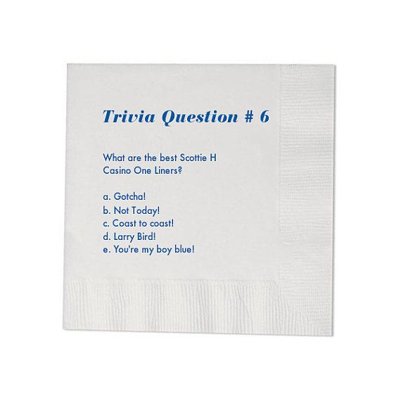 100 Trivia Personalized Beverage Napkins by MemorableWedding, $36.99