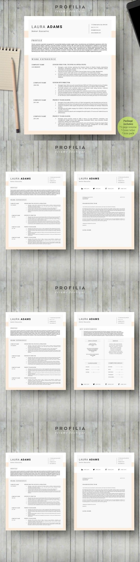 resume letter templates