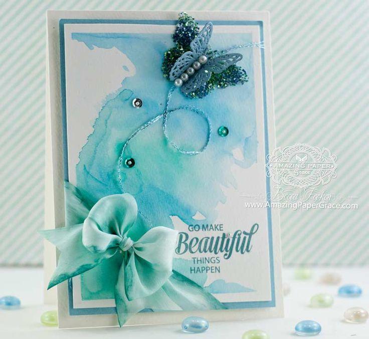 Papercraft Card Making Ideas Part - 29: Watercolor Card By Becca Feeken