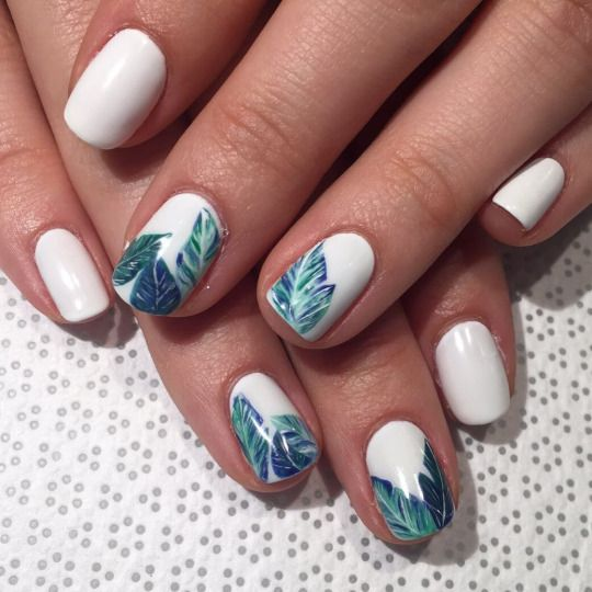 all white green nails details beauty hacks