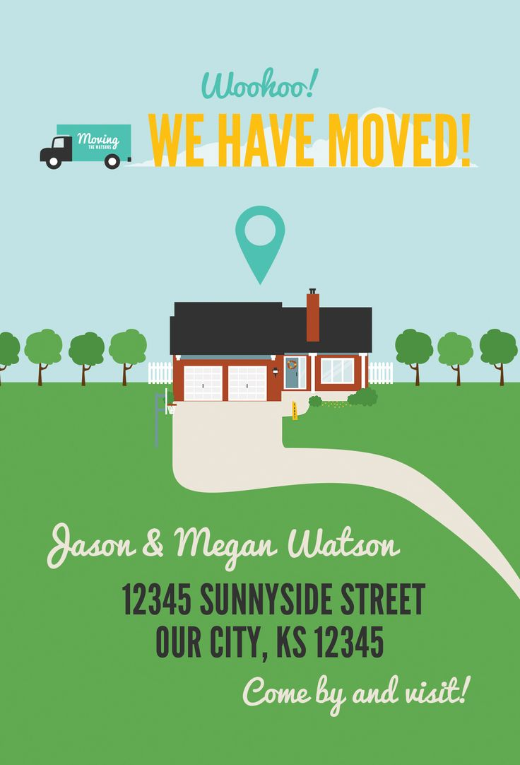 Love the images! Moving Announcements // Custom Print Design