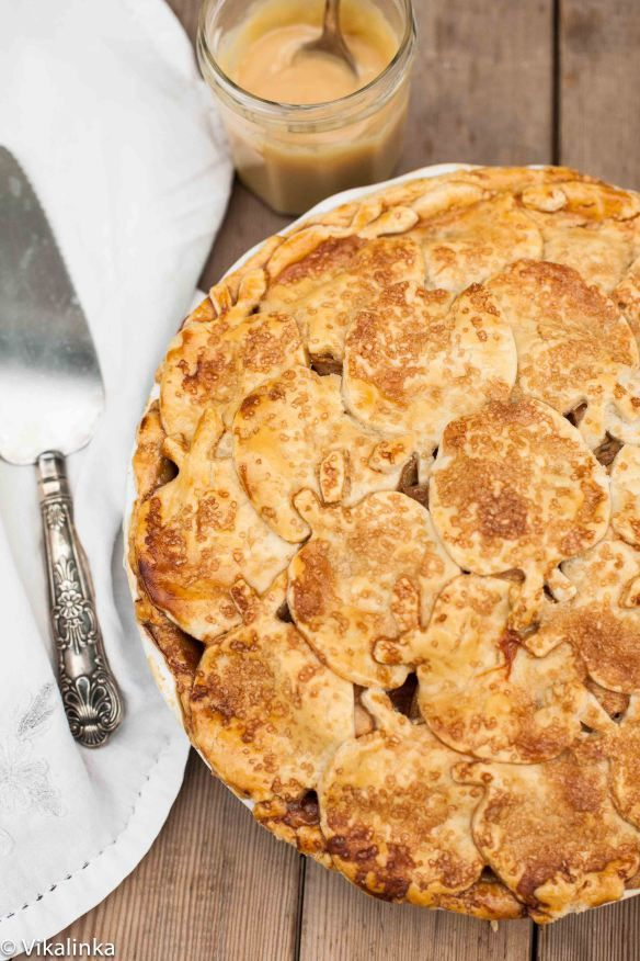 Dulce de Leche Apple Pie. Apples tossed in dulce de leche and wrapped ...