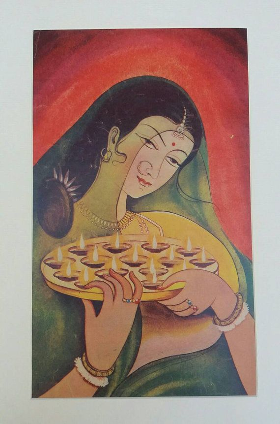 Check out this item in my Etsy shop https://www.etsy.com/uk/listing/503637261/a-1950s-mounted-indian-magazine-print-of