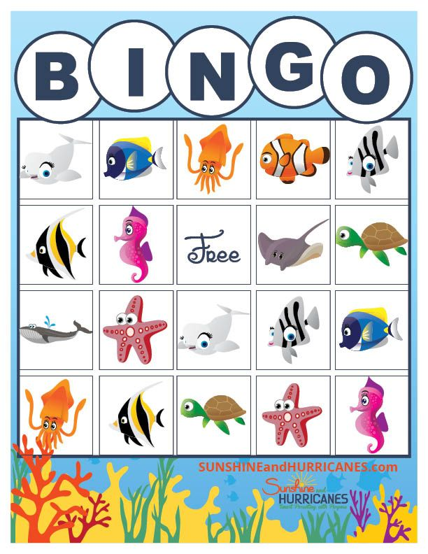 Hosting a kid's birthday party or any ocean themed event? This adorable FREE printable Under The Sea Bingo Game is beautiful and a great game for children! Use for VBS, the classroom, a pirate, mermaid, or ocean themed event! Finding Dory Games - Printable BINGO