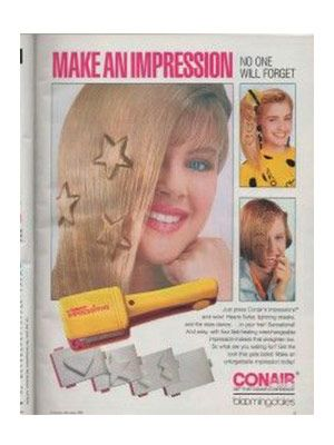 The childhood beauty products we just can't give up: We still stalk eBay for the Impressions Crimper, which left stars, hearts, and lightning bolts in your hair