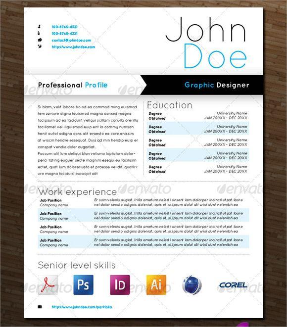 resume template graphic designer