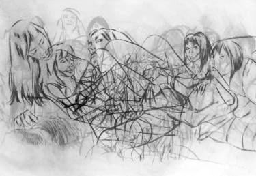 "Saatchi Art Artist Adam R Grose; Drawing, ""FIGURE FORMS (Sketch)"" #art"