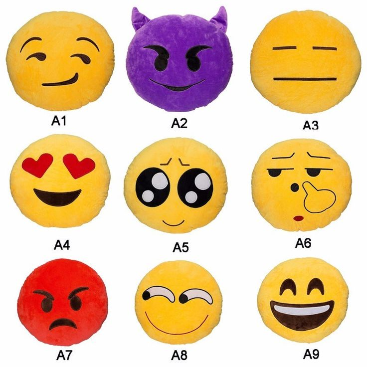Emoji Round Pillows for 3$
