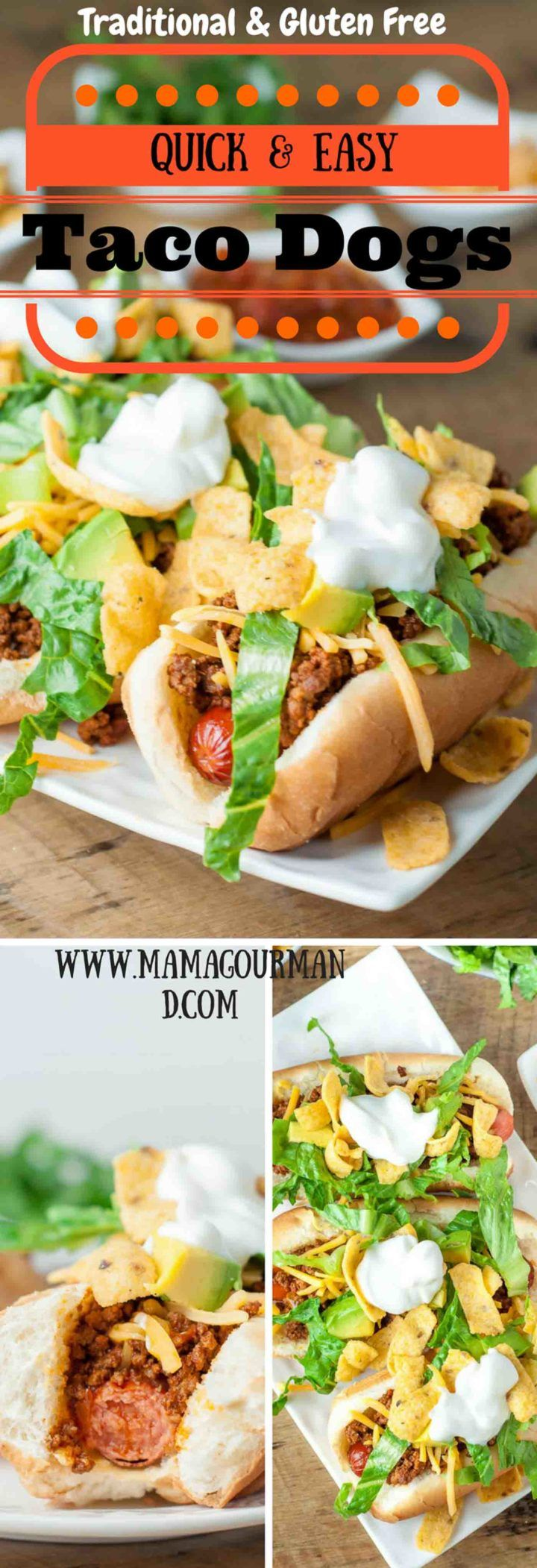 These Quick and Easy Taco Dogs only have a few ingredients and are so simple to throw together. With how easy they are to make, it's hard to believe how out-of-this-world amazing they are! http://www.mamagourmand.com