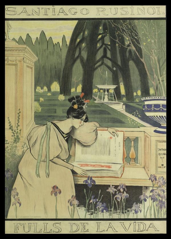 """Courtesy of the Biblioteca de Catalunya (http://www.bnc.cat): """"Santiago Rusiñol. Fulls de la vida"""", 1898. (Rights Reserved - Free Access) http://www.europeana.eu/portal/record/91906/7CE151C929810E2F249A741265002BEE5AF4C9B7.html #art #poster #barceloa"""