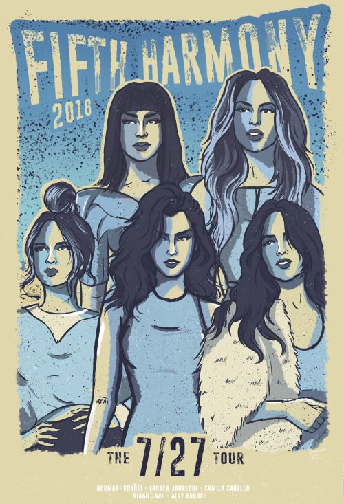 Official 7/27 Tour Poster - Fifth Harmony 2016  check my behance: https://www.behance.net/roogomes