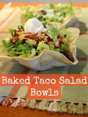 Tastes Better From Scratch: Baked Taco Salad Bowls by ruby