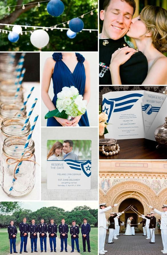Military Wedding Inspiration plus Save the Date and Wedding Invitation