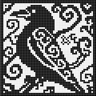60 x 60 stitches chart suitable for crochet, cross stitch and filet crochet